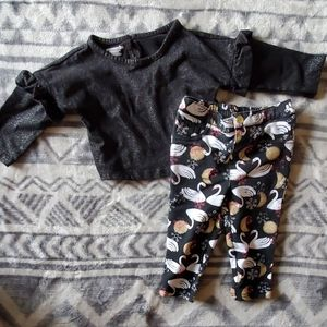 Longsleeve shirt with matching patterned pants